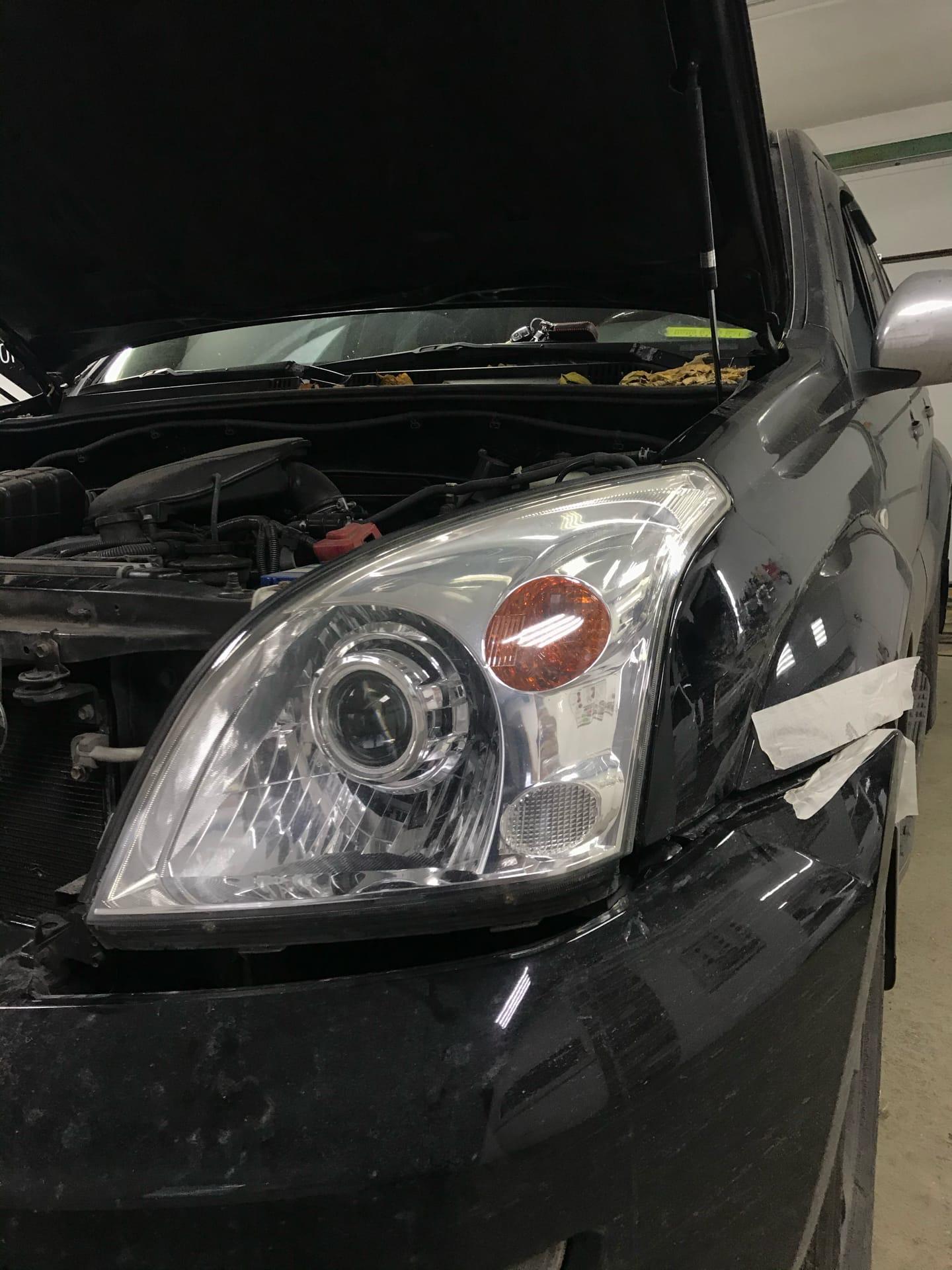 Установка Bi-LED линз в Toyota Land Cruiser Prado 120
