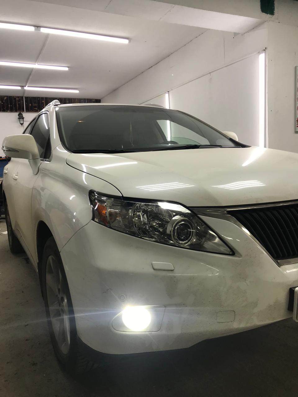 Замена ксеноновых линз Lexus RX на bi led